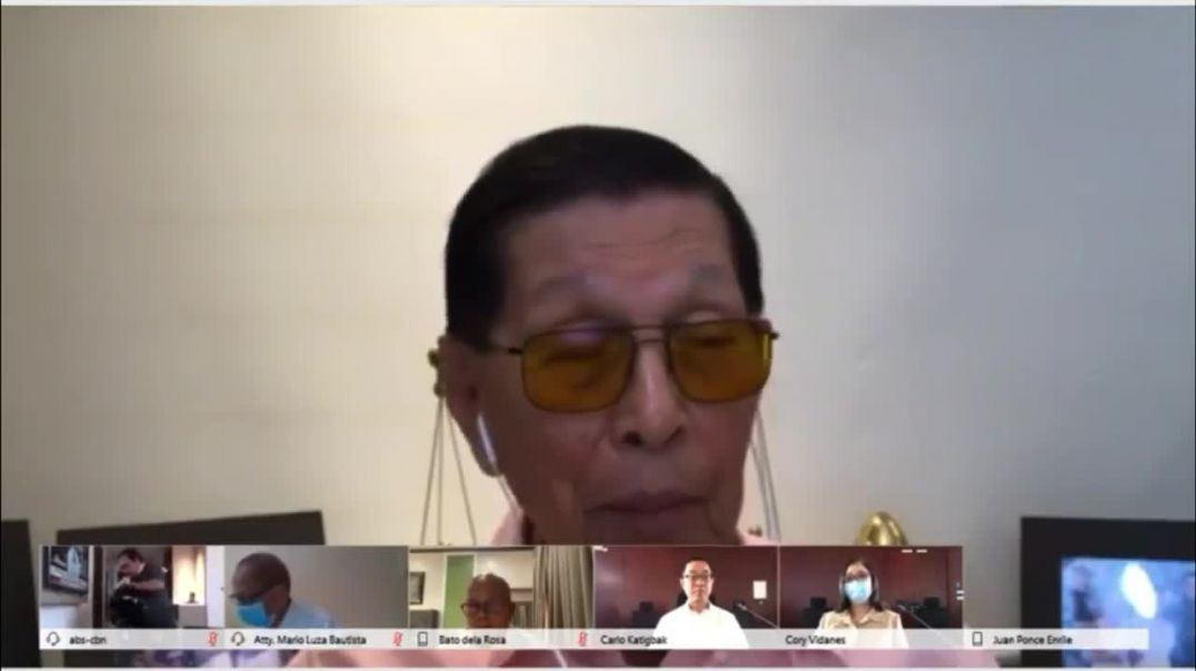 Former Senator Juan Ponce Enrile talks about ABS-CBN Franchise Extension