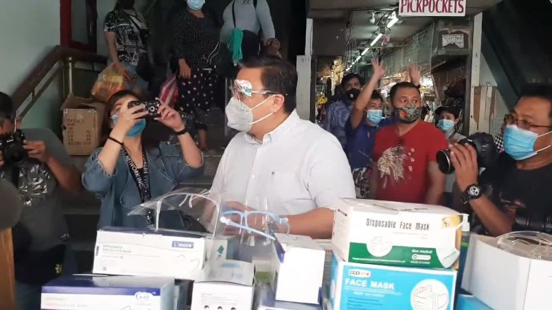 Manila Bureau of Permit checks Faceshield Pricing at Carriedo and Divisoria, Manila