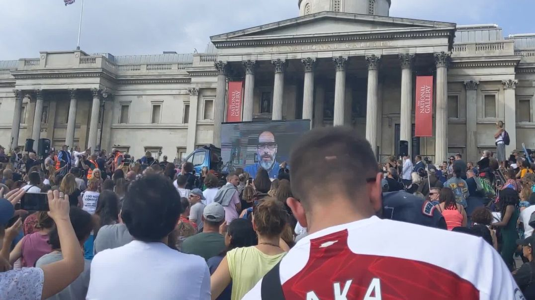 ⁣Dr. Andrew Kaufman's Speech for Trafalgar Square Protest in London