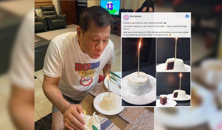 """Bakeshops version of President Duterte's 76th birthday """"Rice Cake"""" went Viral"""