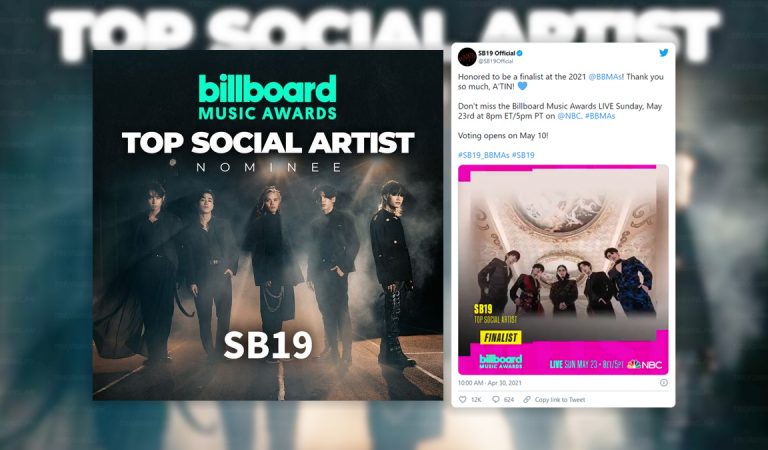 SB19 Nominated for BBMA's Top Social Artist