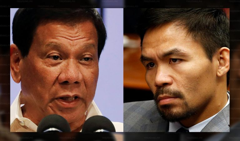WPS Issue, Sen. Pacquiao disappointed with Pres. Duterte
