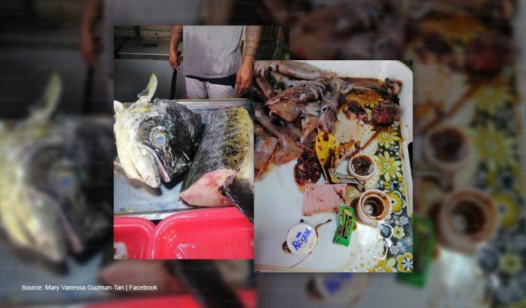 Trash found in 'Dorado' fish stomach shocks vendor and customer