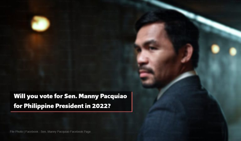Will you vote for Sen. Manny Pacquiao for President in 2022? [Online Survey]